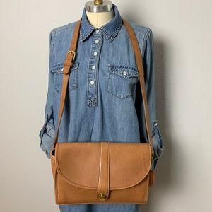 Vintage Coach Natural Leather Shoulder Bag